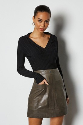 Leather Pocket Mini Skirt