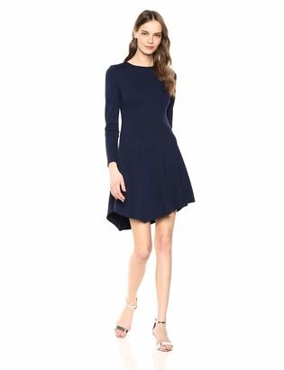 Vince Camuto Women's A-Line Dress with Asymmetrical Hem