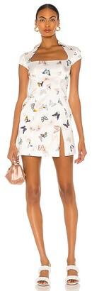 Kim Shui Butterfly Silk Mini Dress