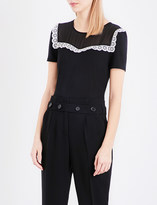 Claudie Pierlot Texan jersey T-shirt