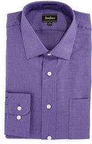 Neiman Marcus Classic Fit Dobby Zigzag Dress Shirt, Purple