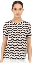 Neil Barrett Macro Kefiah Small Masc. Reg. Silk Stretch T-Shirt Women's T Shirt