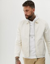 Asos Design DESIGN harrington jacket in ecru
