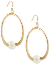 INC International Concepts Robert Rose for Gold-Tone Imitation Pearl Drop Hoop Earrings, Only at Macy's