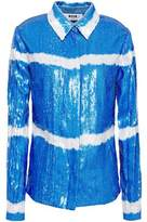 MSGM Degrade Sequined Georgette Shirt