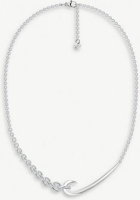 Shaun Leane Hook chain sterling silver choker necklace