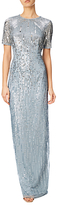Adrianna Papell Ombre Sequin Gown, Blue Heather