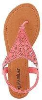 Charlotte Russe Embellished Laser Cut Sandals