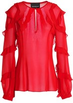 Nicholas Ruffled Silk-Georgette Blouse