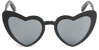 Saint Laurent 55MM Heart-Shaped Sunglasses