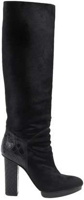 Devi Kroell Black Pony-style calfskin Boots