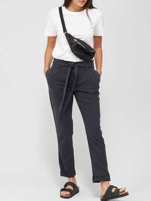 Very Tie Waist Cargo Jogger Trousers - Charcoal