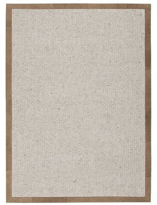 Calvin Klein Lucia Hand-Knotted Wool Horn Area Rug Rug Size: Rectangle 8' x 10'