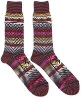 Anonymous Ism Kilim Crew Socks Navy - Navy