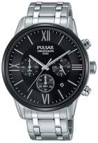Pulsar Blue Dial Dress Chronograph Strap Watch Pt3805x1