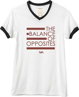 RVCA Juniors Balance Lines Graphic Ringer Tee