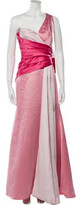 Thumbnail for your product : Carmen Marc Valvo One-Shoulder Long Dress Pink