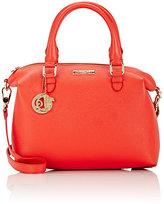 Versace WOMEN'S DOUBLE-HANDLE SATCHEL-RED