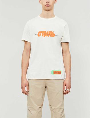 Heron Preston Graphic-print cotton-jersey T-shirt