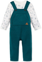 First Impressions Baby Boys' 2-Pc. Bear-Print T-Shirt & Quilted Overall Set, Only at Macy's
