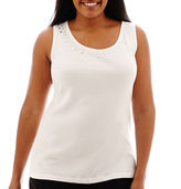 JCPenney St. John's Bay Embellished Tank Top - Plus