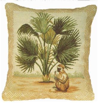 Petit Point Hkh International Monkey Pillow