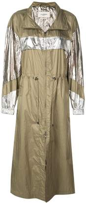 Isabel Marant metallic trench raincoat