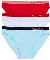 Calvin Klein Pure Seamless Bikinis, Set of 3