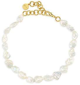 """Nest Women's Goldplated 16MM Baroque Freshwater Collar Necklace/15"""""""