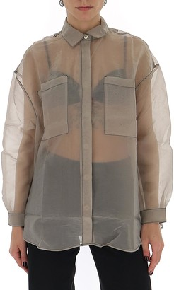 Sunnei Contrast Stitch Sheer Shirt