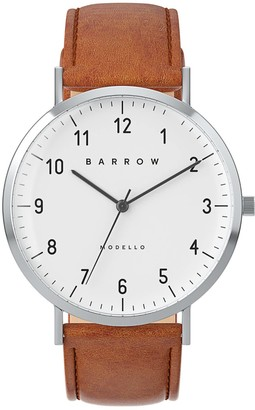 Barrow Modello Watch With Steel Mesh Strap & Tan Leather Strap