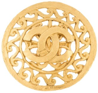 Chanel Pre Owned 1995 CC filigree brooch