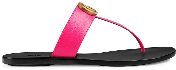 Double Leather G Thong Sandal With Acj34L5qR