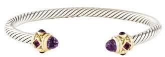 David Yurman Amethyst, Tourmaline & Rhodolite Garnet Renaissance Bracelet