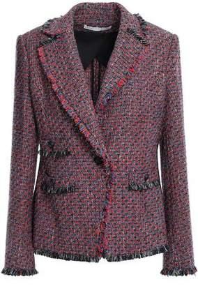 Veronica Beard Fabian Frayed Metallic Tweed Blazer