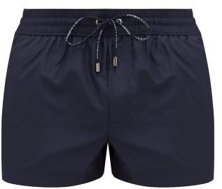 Dolce & Gabbana Logo-embroidered Swim Shorts - Navy
