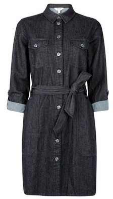 Dorothy Perkins Womens Black Safari Shirt Dress, Black