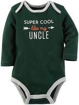 Carter's Baby Boy Long Sleeve Contrast Trim Graphic Bodysuit