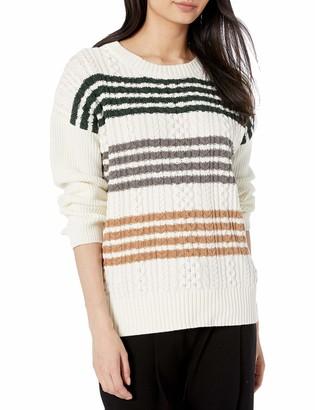 BCBGMAXAZRIA Women's Cable Knit Sweater