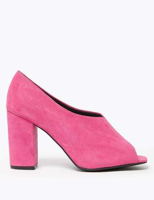 M&S CollectionMarks and Spencer Peep Toe Block Heel Shoe Boot
