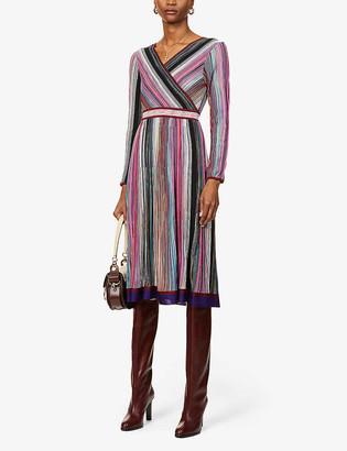 Missoni V-neck striped dress