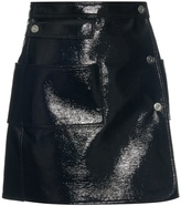 Courreges Patent-leather effect mini skirt