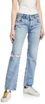 Hesperia Distressed Straight-Leg Jeans