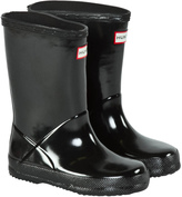 Hunter Black First Gloss Wellington Boots