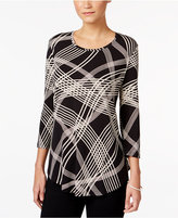 JM Collection Striped Scoop-Neck Top, Only at Macy's