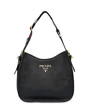 Prada Women's Small Daino Leather Hobo Bag