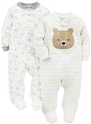 Carter's Simple Joys by Baby Neutral 2-Pack Cotton Footed Sleep and Play