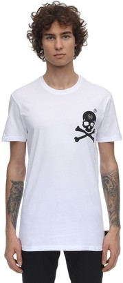 Philipp Plein PRINT & PATCH COTTON JERSEY T-SHIRT