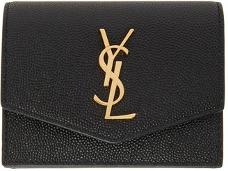 Saint Laurent Black Uptown Compact Wallet