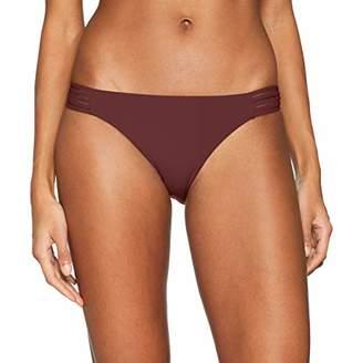Seafolly Women's Active Multi Rouleau Brazilian Bikini Bottom Swimsuit Plum